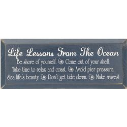 Life's Lessons from the Ocean Plaque