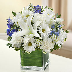 Healing Tears Blue and White Bouquet
