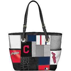 Cleveland Indians Patchwork Tote Bag