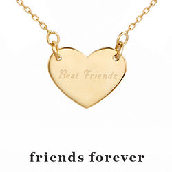 Friends Forever Gold Heart Necklace