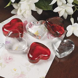 Brilliant Glass Heart Shapes