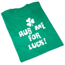 Personalized Rub me for Luck T-shirt