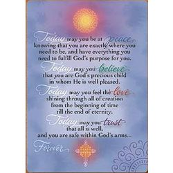 'Today' Inspirational Prayer Cards