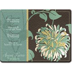Personalized Chrysanthemum Glass Cutting Board