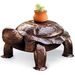 Iron Copper Turtle Table