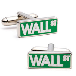 Wall Street Sign Cufflinks