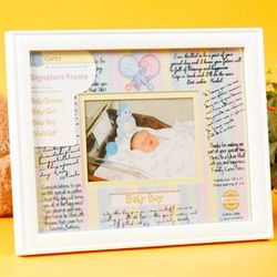 Baby Themed Signature Mat Photo Frame