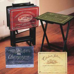 Wine TV Trays