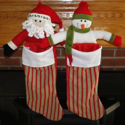Open Arms Santa or Snowman Personalized Christmas Stocking