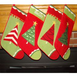 Trim A Tree Personalized Christmas Stocking