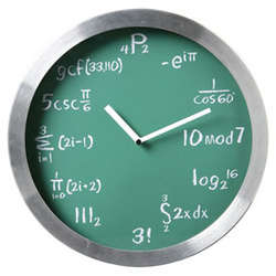Mathematical Expressions Clock
