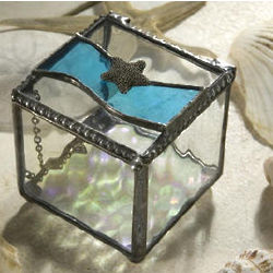 Stained Glass Starfish Jewelry Box