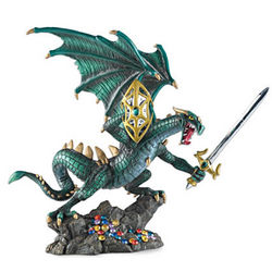 Crusader of Hell's Wrath Dragon Figurine