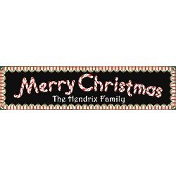 Personalized Merry Christmas Candy Cane Sign