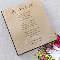 Personalized Wedding Photo Album for Parents