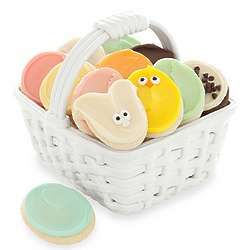 Ceramic Easter Basket with Buttercream Frosted Cookies