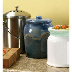 Leakproof Glazed Ceramic Compost Crock