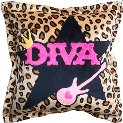 Diva Leopard Print Pillow