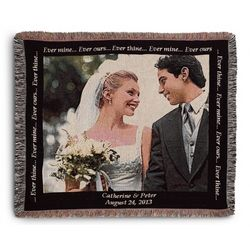 Landscape Wedding Photo Throw Blanket