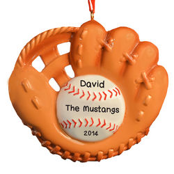 Personalized Baseball Glove Ornament