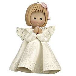 Personalized Girl Angel Christmas Ornament