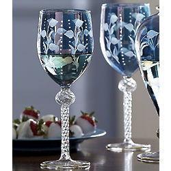 Handmade Mouth-Blown Wine Glasses