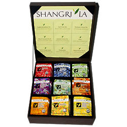 Shangri La Organic Teas in Leather Box