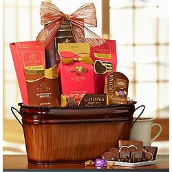 Be My Valentine Godiva Chocolate Basket