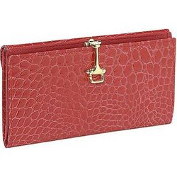 Croco Bidente Continental Wallet with Clip