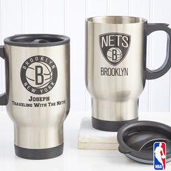 Personalized NBA Basketball Travel Mug