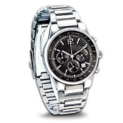 My Son, My Pride and Joy Stainless Steel Chronograph Men's Watch