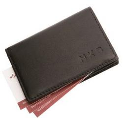 Personalized Nappa Leather Business Card Holder