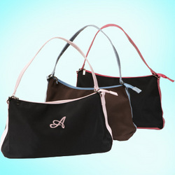 Croc Leather Handle Bridesmaid's Bag