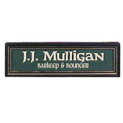 Wood Personalized Nameboard for Old Irish Pub Sign
