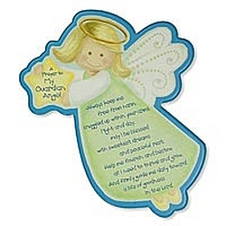 Shaped Guardian Angel Plaque