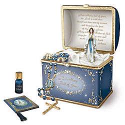 Heirloom Porcelain Musical Prayer Box