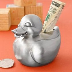 Pewter Ducky Bank