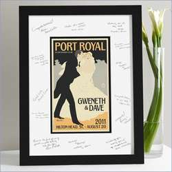 Down The Aisle Wedding Guest Signature Frame