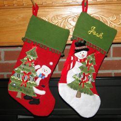 Notions Snowmen & Santa Personalized Christmas Stocking