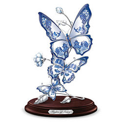 Flights of Fancy Porcelain Butterfly Sculpture