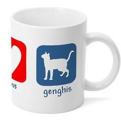 Personalized Peace Love Cat Mug