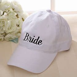 Personalized Wedding Party Embroidered Hat