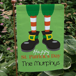 Happy St. Patrick's Day Personalized Garden Flag
