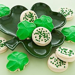 St. Patrick's Day Shamrock Cookie Plate