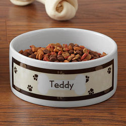 Throw Me a Bone Small Personalized Dog Bowl