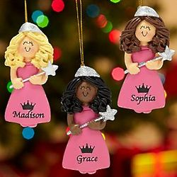 Personalized Princess with Star Wand Ornament