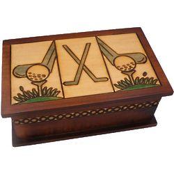 Secret Golf Wooden Puzzle Box