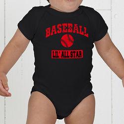Sports Personalized Baby Bodysuit