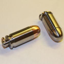 Engravable 45 Bullet Pendant Stash