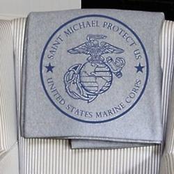 St. Michael Protect US Marine Corps Sweatshirt Blanket